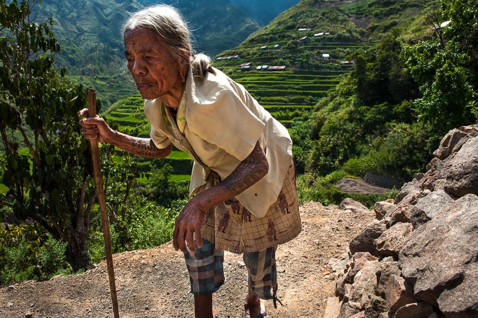 Kalinga woman walking