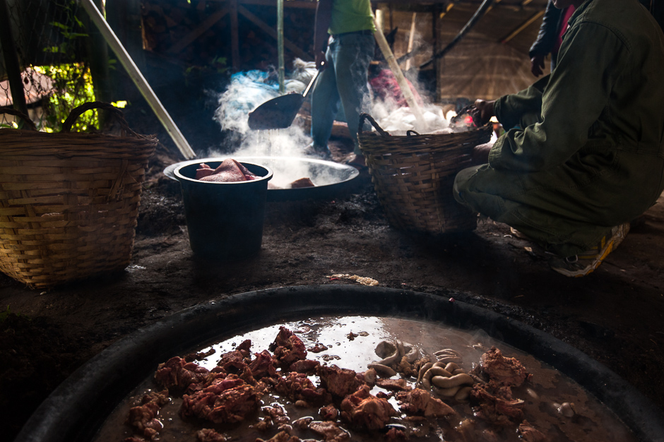Cooking in Large Woks