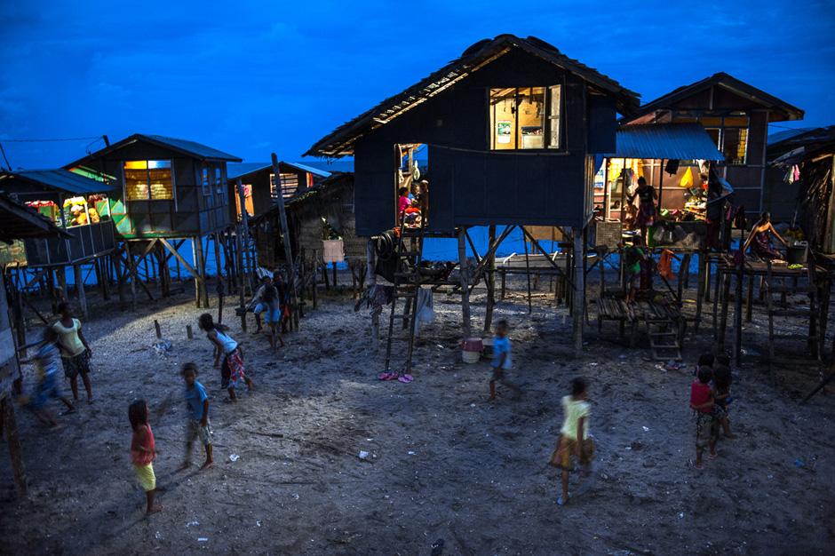 Badjao community in Mindanao